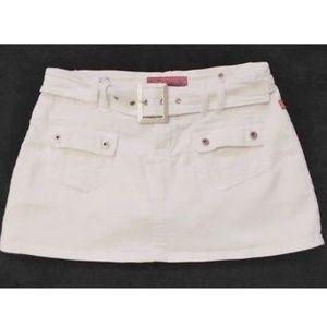 Hot Kiss Denim Stretch Jean Mini Skirt Skort